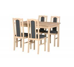 """MILENIUM 4- jídelní set stůl+4 židle (Max 3+Bos 7) dub sonoma/látka č.11 tmavě šedá - kolekce """"DRE"""" (DM) (K150)"""