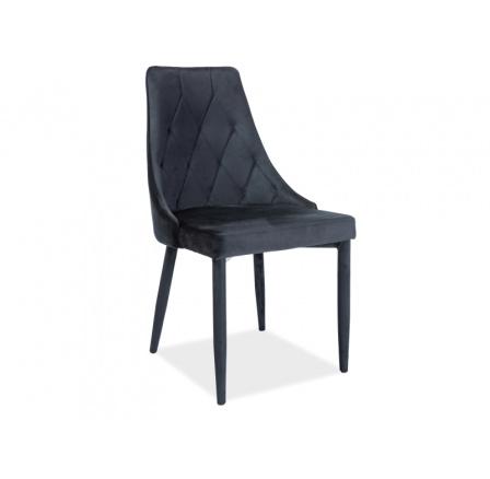 Jídelní židle TRIX VELVET, černá