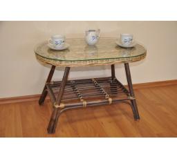 Ratanový stolek Fabion oválný wicker mix