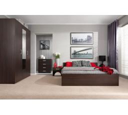 lož.VERA (LIBERA) wenge KOMPLET ( postel, skříň, 2 noční stolky ) bez roštu - SUPERAKCE