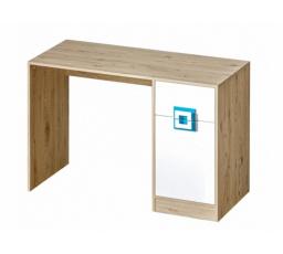 NICO - Psací stůl 10 / Barva korpusu: Dub světlý , Barva dvířek: Bílá / Dub světlý
