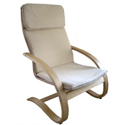 Relaxační křeslo béžové