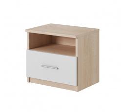 Noční stolek Korina sonoma/bílá