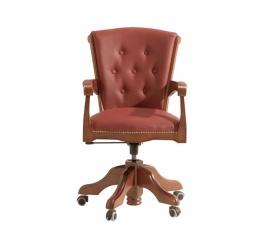 BAWARIA DFOT kanc.židle ořech/348 (1080) hnědá ekokůže