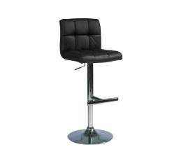 C-105  (KROC105C) -Židle barová- eco černá  (S) -  (K150-Z)