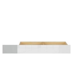 NANDU SZU - ŠUPLÍK (do postele) šedá/dub polský/bílý lesk/bílý lesk