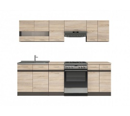 Kuchyň Junona Modul 240, wenge/dub sonoma