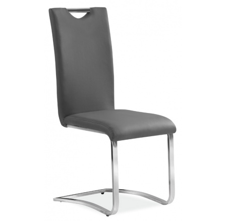 Jídelní židle H-790 - šedá, chrom