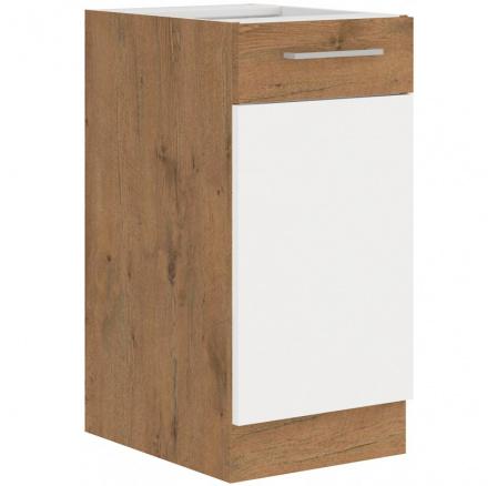 Kuchyňská skříňka Vega 40D1F dub lancelot/bílý lesk