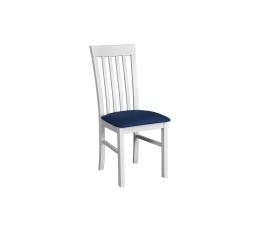 """MIA 2 jídelní židle (MILANO 2) bílá / modrá látka č. 22 (DM)- kolekce """"DRE"""" (Z)"""