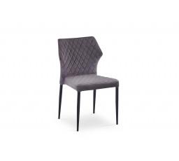 K331 krzesło nogi - czarne, siedzisko - ciemny popiel (1p=2szt)