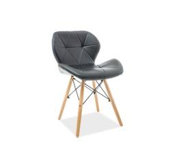 Jídelní židle MATIAS, černá/buk