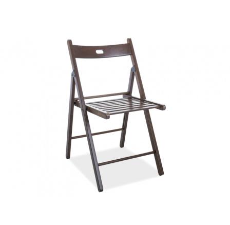 Skládací židle SMART II, tm. ořech