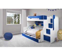 Patrová postel Harry 3  černá