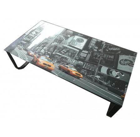Konferenční stolek BA-7-Taxi /sklo+černý kov