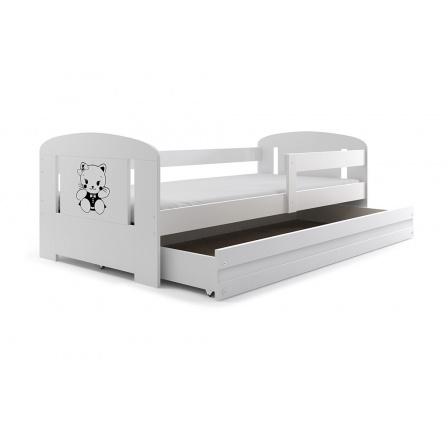 Postel Bruno 80x160 bílá/kočička