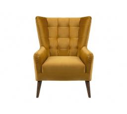 CASEY ES - křeslo, Rain 12 yellow, dřevo TX061 (BRW COMFORT) (FL11-K1230)