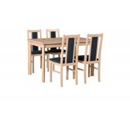 """MILENIUM 1- jídelní set stůl+4 židle (Max 5P+Bos 14 ) dub sonoma/látka č.11 tmavě šedá - kolekce """"DRE"""" (DM) (K150)"""