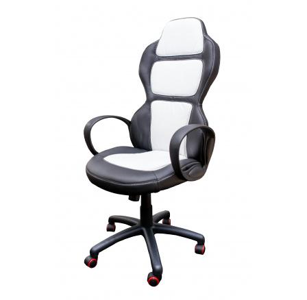CX0918H  - kancelářské křeslo -  černá/bílá(červená kolečka) (ZH) CH16***SUPERAKCE ORFA DO VYPRODÁNÍ ZÁSOB