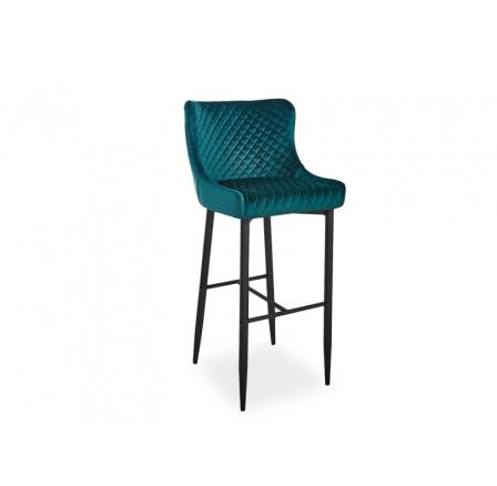 Barová židle COLIN B VELVET H-1, zelená