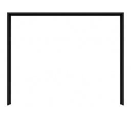 lož.KASSEL PST/270/218 dub černý (ozdobná lišta ke skříni SZF/270)
