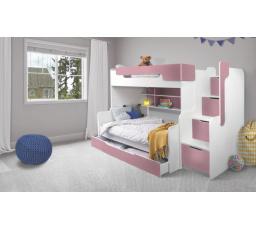 Patrová postel Harry 3  růžová