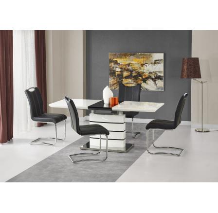 NORD stół biało-czarny (3p=1szt)