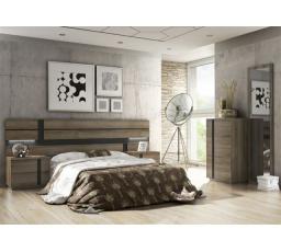 AVILLA záhlaví postele  AVILA  160  - dub riviera tmavá/černá ( P831AV27 ) (MM)***DO VYPRODÁNÍ