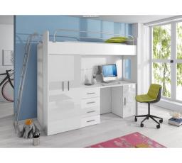Patrová postel PARADISE 4D-bílá