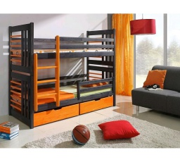 Dětská patrová postel z masivu ROLAND