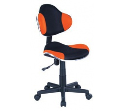 Dětská židle Q-G2 černá/oranžová