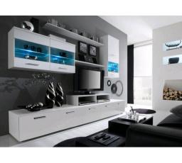 Obývací stěna LOGO II - bílá-bílá ICE