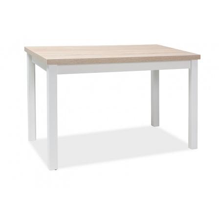 Jídelní stůl ADAM 120 bílá+sonoma