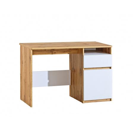 Psací stůl ARCA - AR7, Bílá arktická + Dub Wotan
