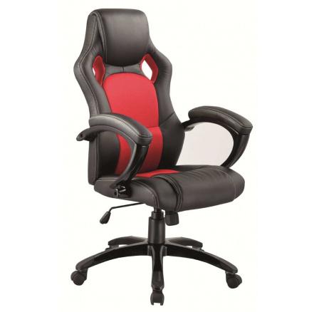 Kancelářské křeslo Q-107 /černá,červená