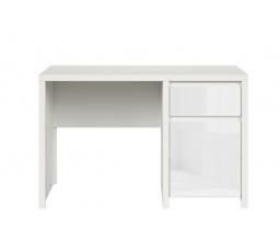 psací stůl KASPIAN BIU1D1S/120 bílá/bílý lesk