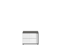 Noční stolek GRAPHIC KOM2SL/C šedý wolfram/bílý lesk (laminát)