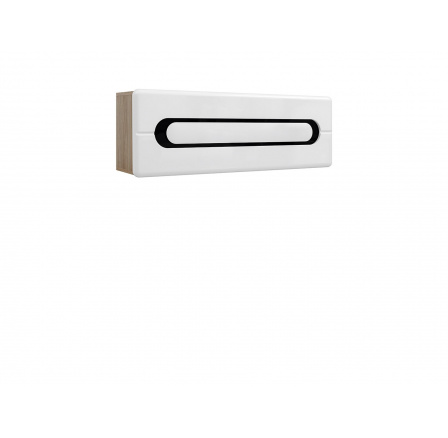 BYRON SFW1K/4/12 bílý lesk/dub san remo světlý
