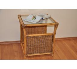 Ratanový stolek Oliver brown wash malý