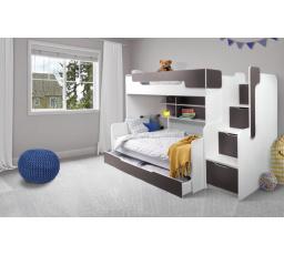 Patrová postel Harry 3  hnědá