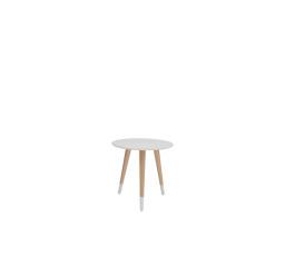 stolek LAWA 014 (TXL014)  bílá/buk přírodní (TX057/TX002)
