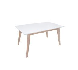 Jídelní stůl AMMAN dub sonoma / bílá