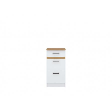 Junona skříňka D3S/40/82, bílá/bílý lesk