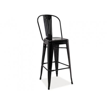 Barová židle LOFT H-1 černá