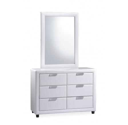 Komoda se zrcadlem - MITO bílá