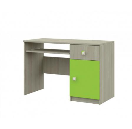 Merkur 08 psací stůl jasan/zelená