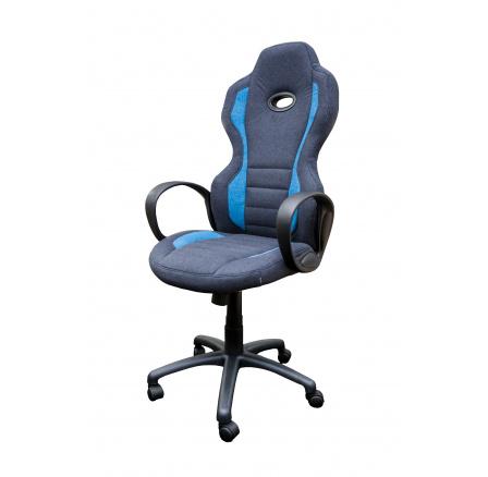 CX0910H - kancelářské křeslo - šedá (black)/modrá (ZH) CH16*** SUPERAKCE ORFA DO VYPRODÁNÍ ZÁSOB
