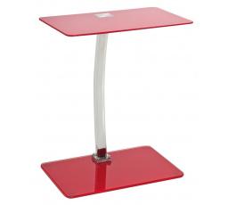 LIFTO ( LIFTOCZE )  odkládací stolek-sklo červené (S) (K150-Z)