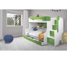 Patrová postel Harry 3  zelená