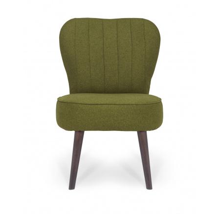 FERB ES - křeslo, Ontario 36 green, dřevo TX023 wenge (BRW COMFORT) (FL VIII-1030)